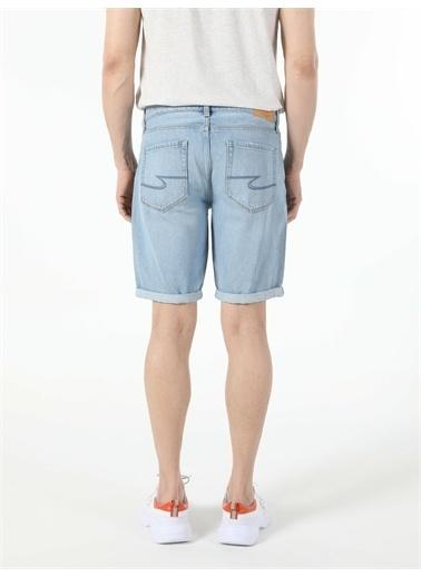 Colin's CL1054729_Q1.V1_DN41395 045 Davıd Orta Bel Düz Paça Regular Fit Jean Erkek Jean şort Renkli